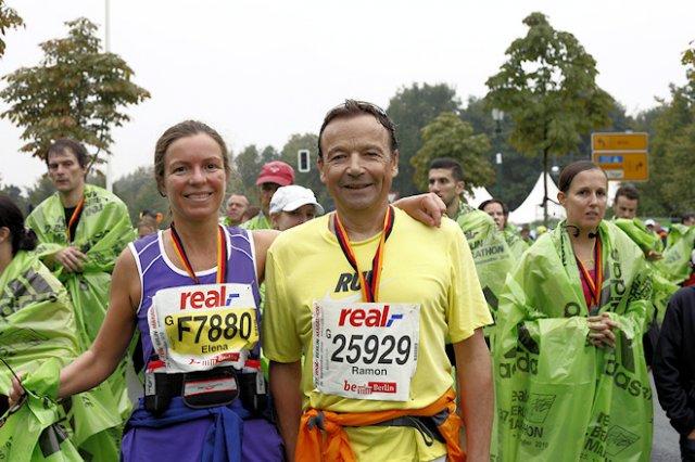 Ramon Sellas i Elena Vera a la Marató de Berlín 2010