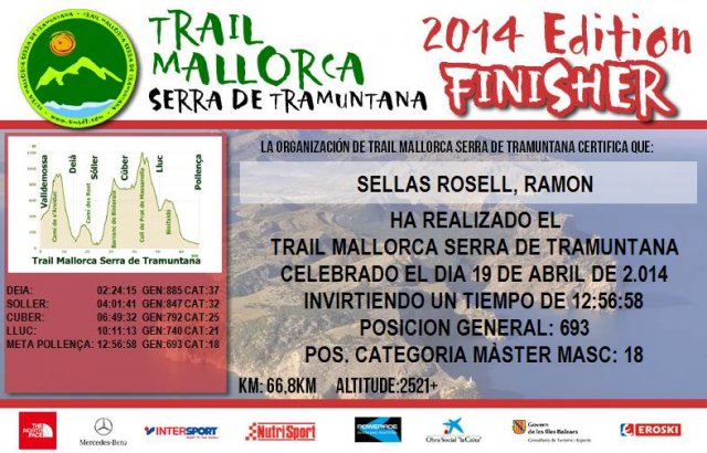 Finisher Trail Serra de Tramuntana 2014